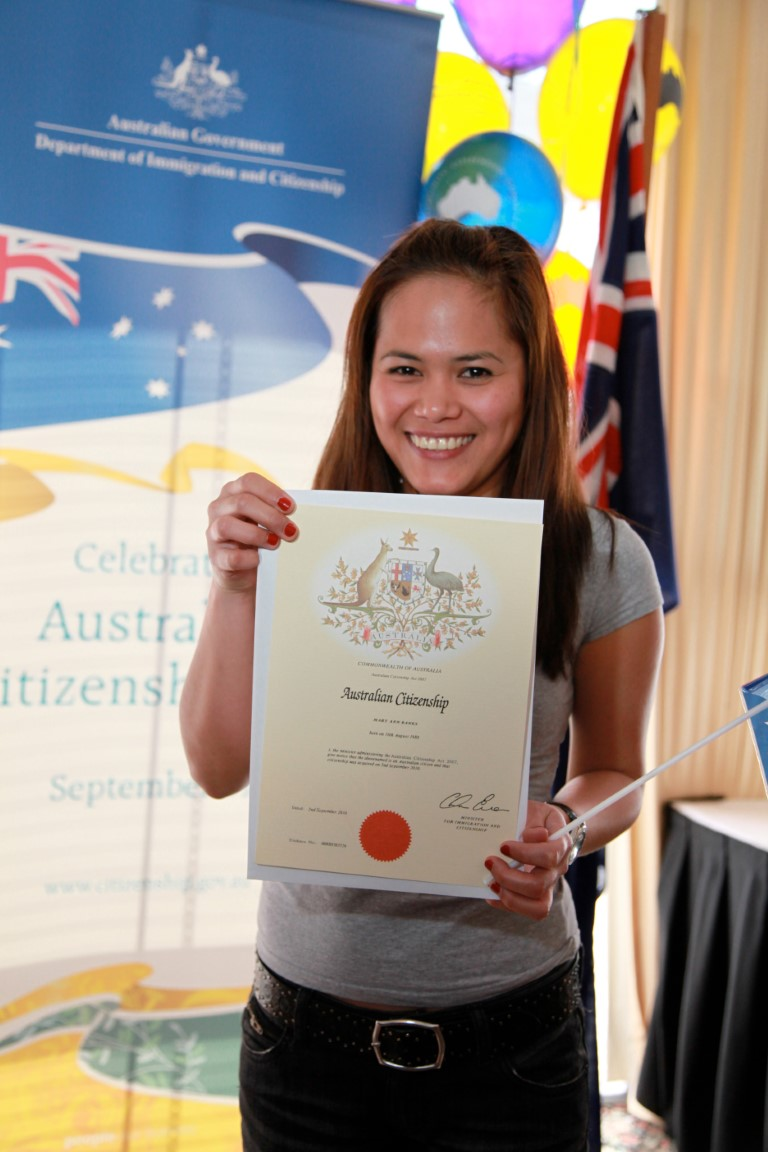 australian citizenship official document